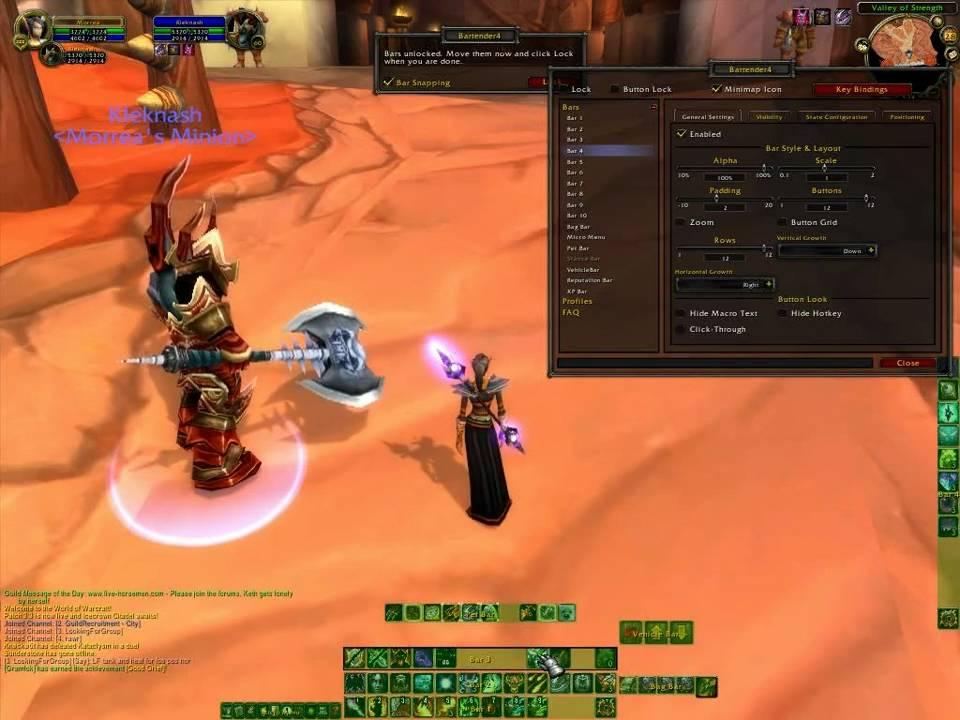 World of Warcraft - Bartender4 Configuration Tutorial ...  World of Warcra...