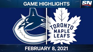 NHL Game Highlights | Canucks Vs. Maple Leafs - Feb. 8, 2021