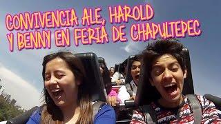 Expo 15 convivencia Ale Harold y Benny en Feria de Chapultepec