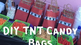 DIY TNT Candy Bags