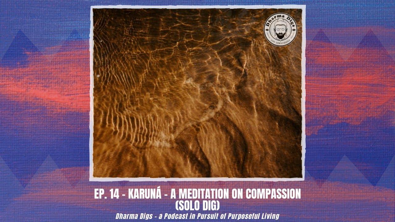 Ep. 14 - Karuná - a Meditation on Compassion - Dharma Digs Podcast (solo dig)