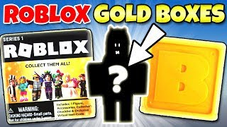 ROBLOX CELEBRITY GOLD MYSTERY BOXES Series 1 BLIND BOX OPENING Toy Review | Trusty Toy Channel