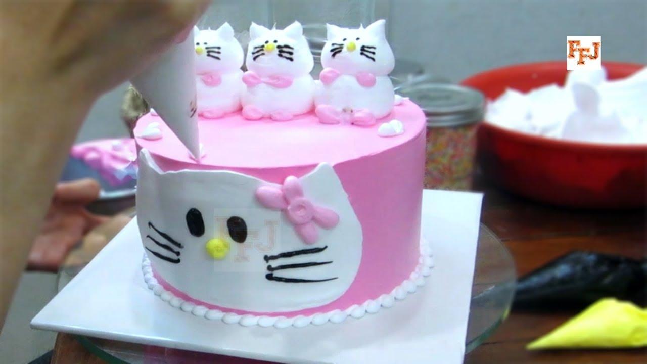 Kitty Lover Cake Making