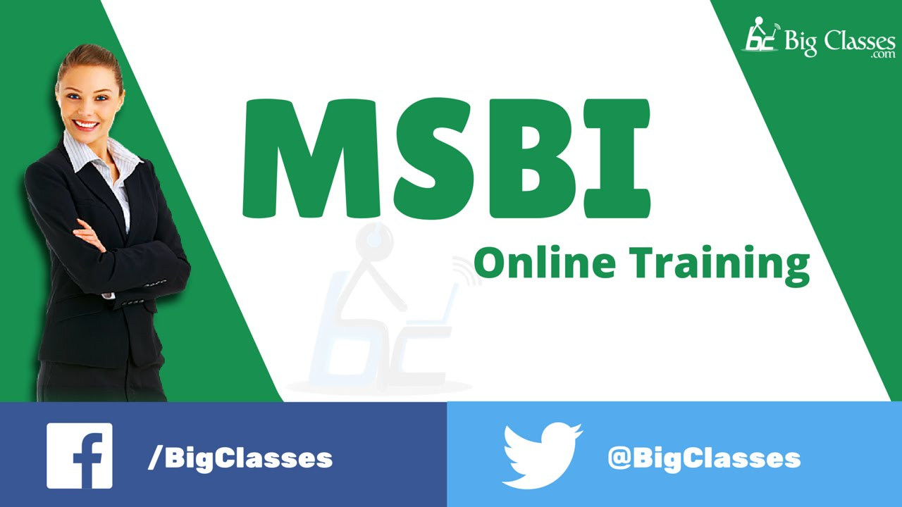msbi online training msbi training videos for beginners bigclasses youtube