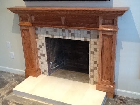 Building A Custom Fireplace Mantle YouTube