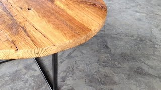 Round Metal And Wood Coffee Table