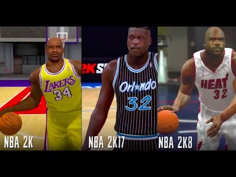 The NBA 2K Evolution of SHAQ - The Big Diesel! 😄 😄