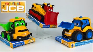 MY FIRST JCB COLLECTION MIGHTY MACHINES BULLDOZER EXCAVATOR DUMP TRUCK FIRE TRUCK & FRONT LOADER
