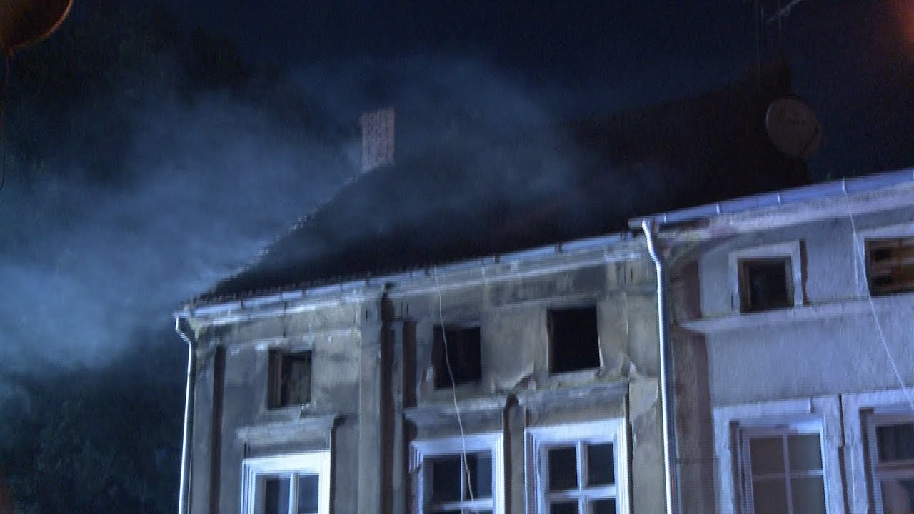 Pożar kamienicy w Zielonej Górze  Ewakuowano rodzinę z 8 miesięcznym dzieckiem