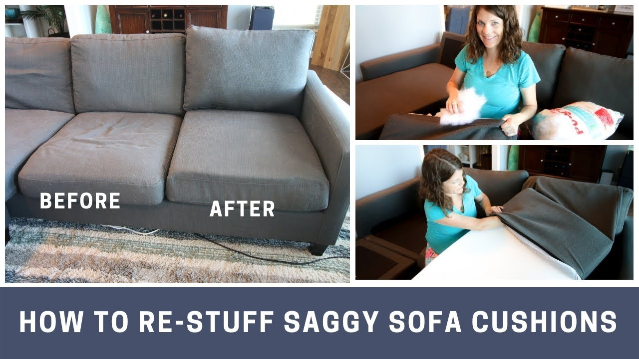 How To Stuff Saggy Sofa Cushions With Images Sofa Cushions On