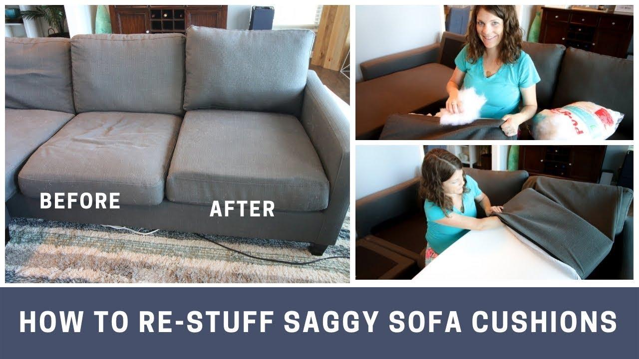 how to re stuff sofa cushions