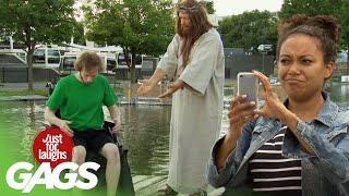 Jesus Saves a man in a Wheelchair!!