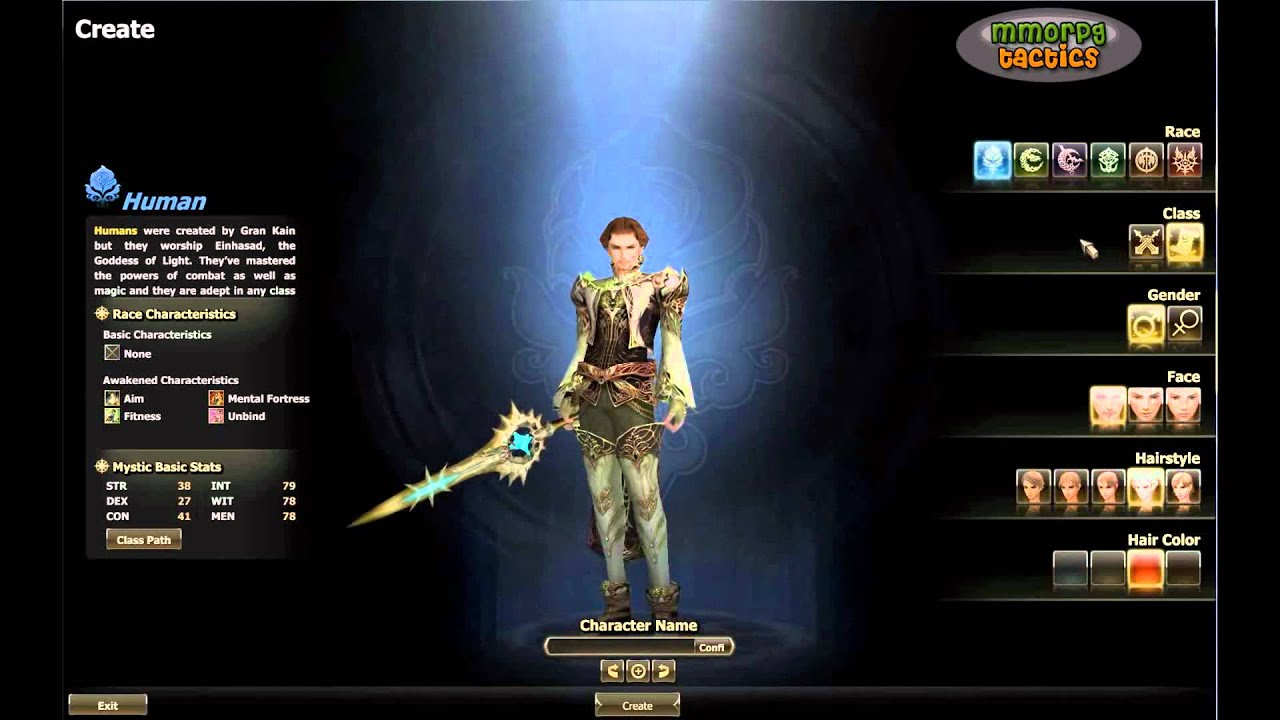 lineage 2 how to create new character