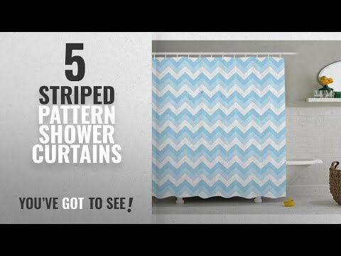 Top 10 Striped Pattern Shower Curtains [2018]: Chevron Shower Curtain Set Home Decor By Ambesonne,
