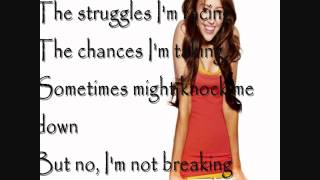 Miley Cyrus The Climb Lyrics