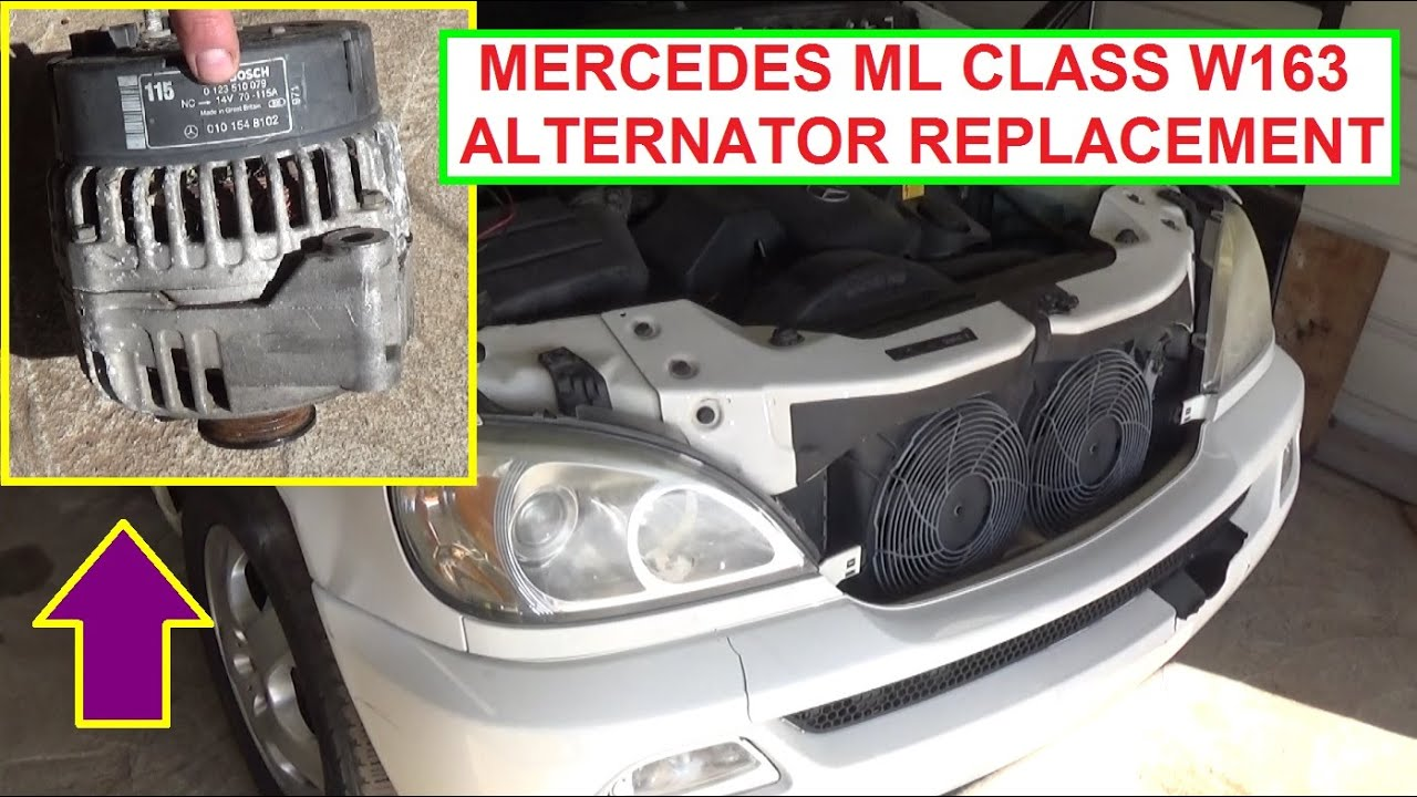 How To Remove And Replace The Alternator On Mercedes W163 Ml320 2006 Ford Focus Location In 1998 Ml430 Ml500 Ml230 Ml350