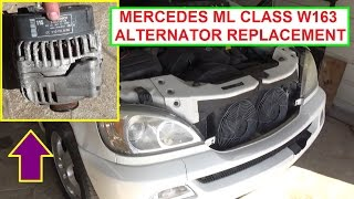 How to Remove and Replace the Alternator on Mercedes W163 ML320 ML430 ML500 ML230 ML350