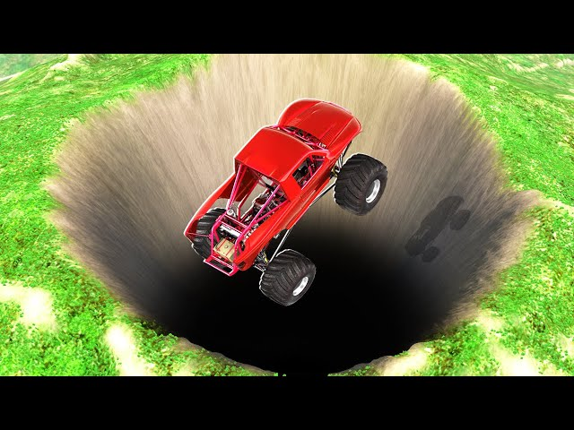 MONSTER TRUCK vs 100,000FT DROP! Jumps & High Speed Crashes