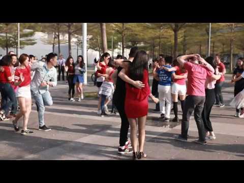 Shenzhen, China, INTERNATIONAL RUEDA DE CASINO MULTI FLASH MOB DAY 2017