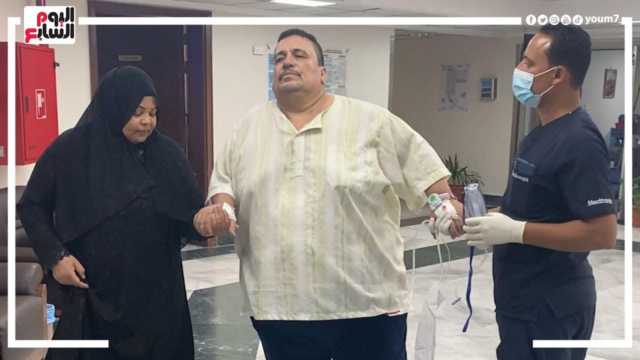 صورة فيديو : مفاجأة .. وزنه كان ٣٠٠ كيلو جرام .. شوفوا عمل إيه بمساعدة تلفزيون اليوم السابع !