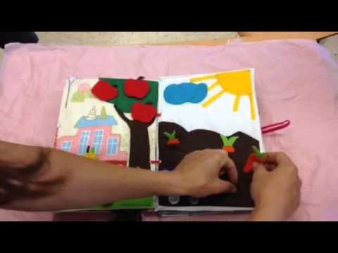 Libro did ctico en tela youtube - Casas de tela para ninos ...