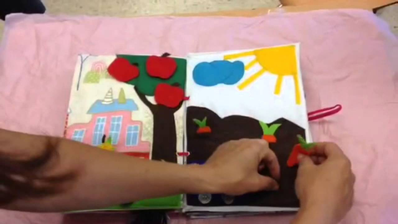 Libro did ctico en tela youtube - Como hacer un libro hueco ...