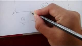 Calcular la altura de un edificio usando la semejanza de triangulos