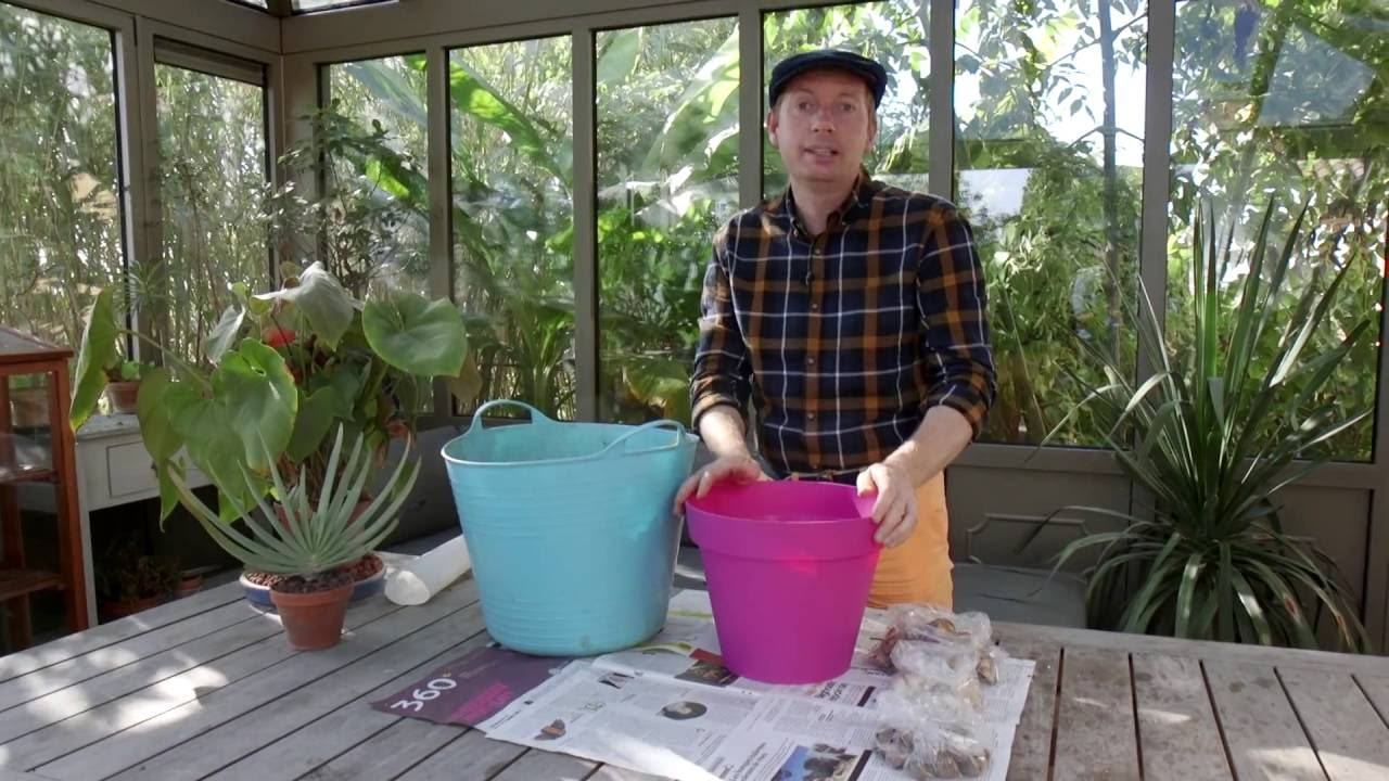 astuce planter des bulbes en pots sur plusieurs tages youtube. Black Bedroom Furniture Sets. Home Design Ideas