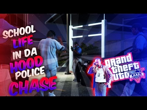 GTA5 School Life In Da Hood Ep. 135 - POLICE CHASE #FreeDaGuys