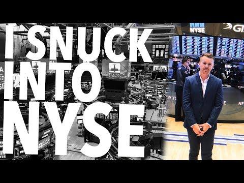 I SNUCK INTO NEW YORK STOCK EXCHANGE!