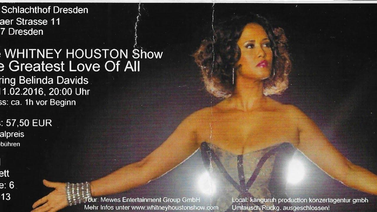 Belinda Davids The Whitney Houston Show Youtube