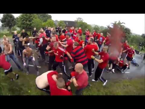 Hooligans Fight GAIS Göteborg vs Helsingborg Copenhagen