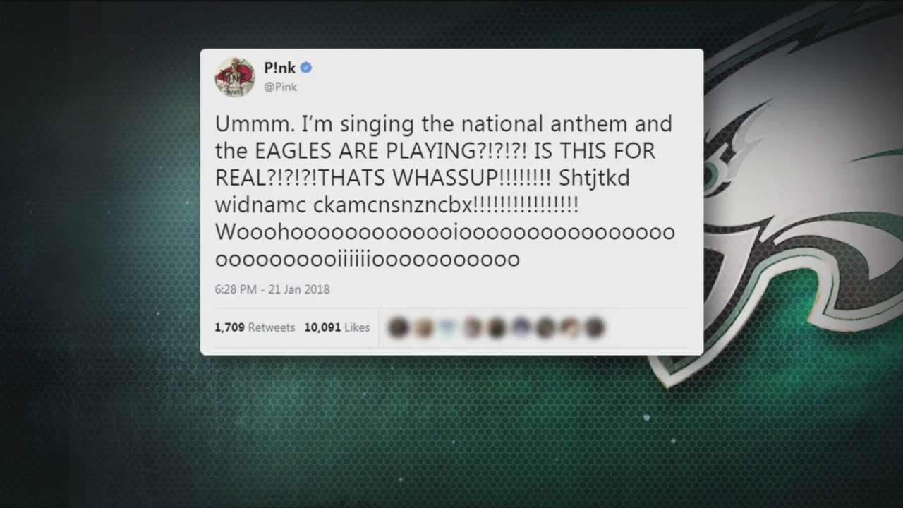 Pink, Who\'s Singing The National Anthem At Super Bowl, Tweets ...