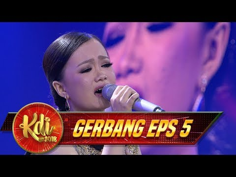 Hayatan Ekspresi Si Imut Echa Menyanyikan Lagu [MIMPI TERINDAH]  - Gerbang KDI Eps 5 (28/7)