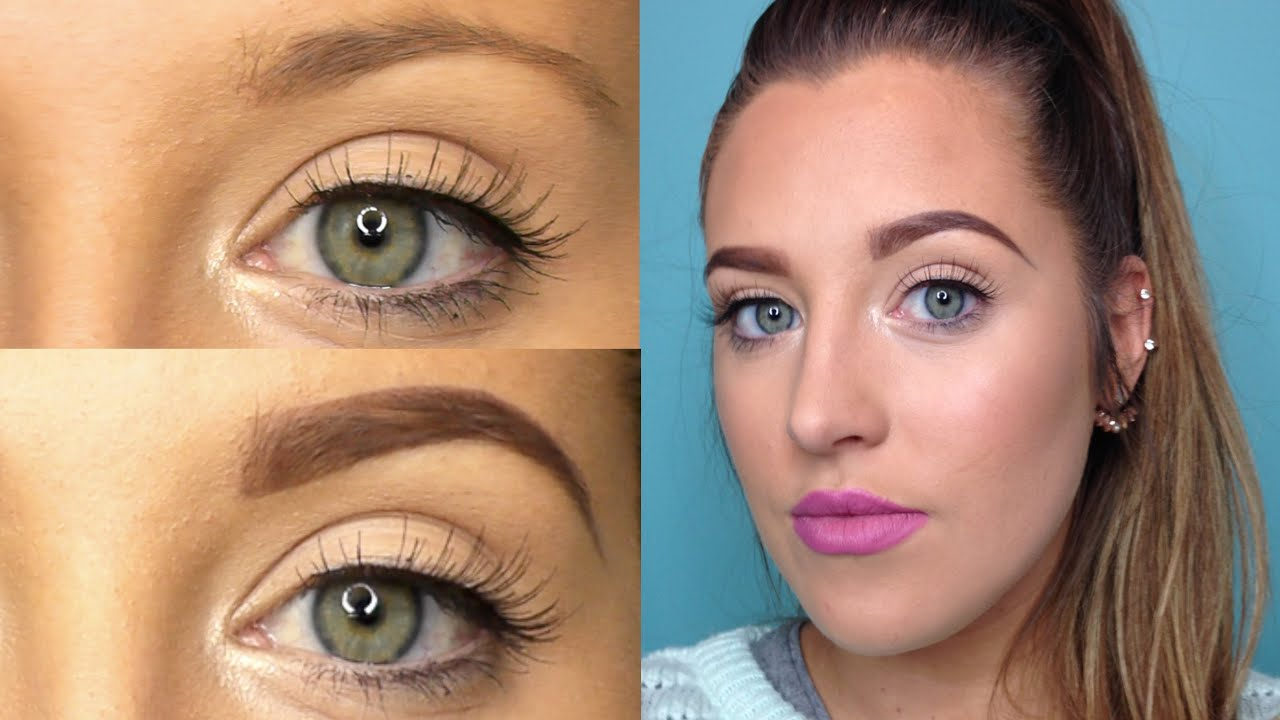 How To Fill In Your Eyebrows - YouTube