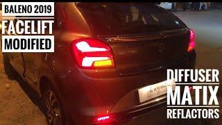 Baleno facelift modified   latest baleno accessories   karol bagh car market Video