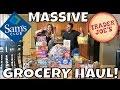 MASSIVE SAM'S CLUB GROCERY HAUL & TRADER JOE'S GROCERY HAUL | $580 | PHILLIPS FamBam Hauls