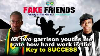 Amaziyah The Great x Derrick Pitter - Fake Friends [Official Lyric Video]
