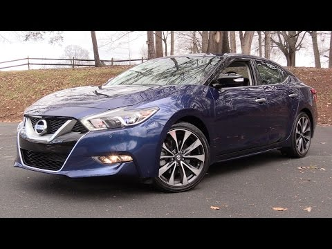 2016 Nissan Maxima SR Start Up, Road Test, and In Depth Review