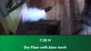 Oprava podlahy v dojírně za provozu