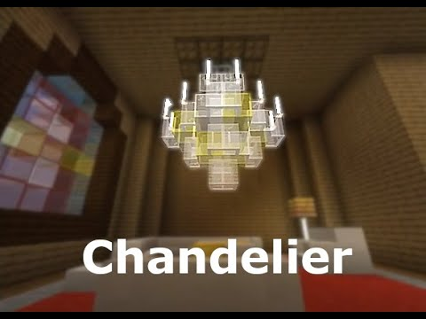 Fancy Chandelier Minecraft Build You, How Do You Make A Chandelier In Minecraft