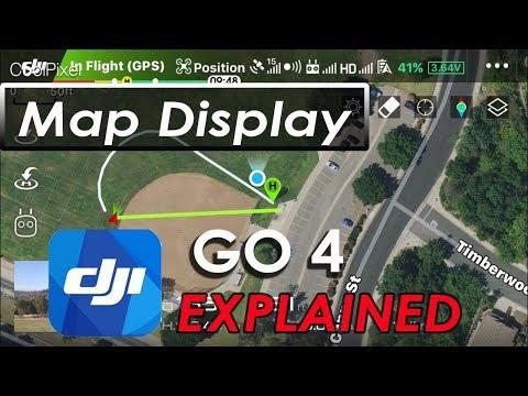 DJI GO 4 App - Map Display - DJI Mavic Pro 2 Pro Air Phantom