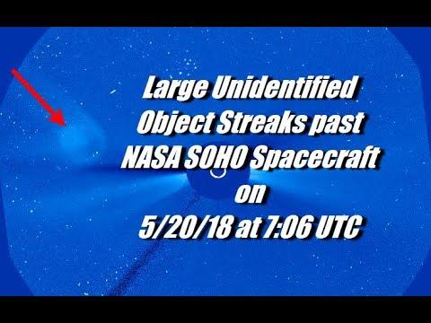 Large Unidentified Object Streaks past NASA SOHO Spacecraft on 5/20/18