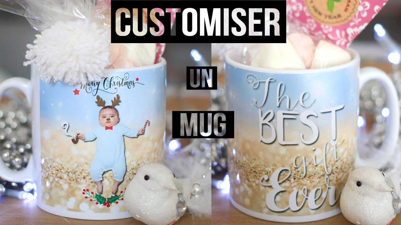 diy cadeau noel customiser un mug des surprises dedans christmas gift. Black Bedroom Furniture Sets. Home Design Ideas