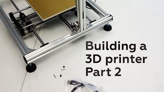 building the velleman k8200 3d printer part 2 assembly