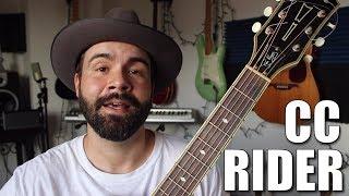 C.C. Rider - Easy Beginner Blues Guitar Tutorial