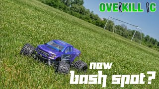 4s LiPo Stampede 4x4 Bashing in a Boring Grass Field! Wow! | Edit & Running Footage | Overkill RC