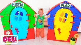 Download Vlad und Nikita bauen Spielhäuser für Kinder Mp3 and Videos
