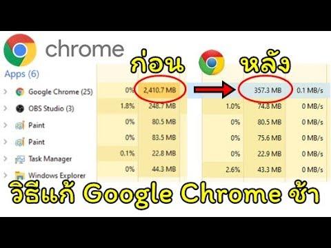 วิธีแก้ Google Chrome กิน Ram Memory จนเครื่องช้า/อืด/แลค