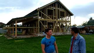 видео Каркасный дом викинг: от проекта до строительства дома